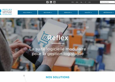Rédaction des contenus du site web reflex-logistics.com