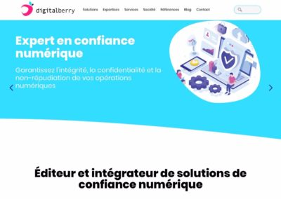 Refonte du site internet digitalberry.fr