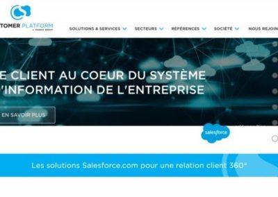 Rédaction des contenus du site customer-platform.com et accompagnement SEO